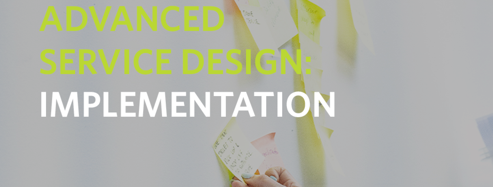 Advanced Service Design: Implementation
