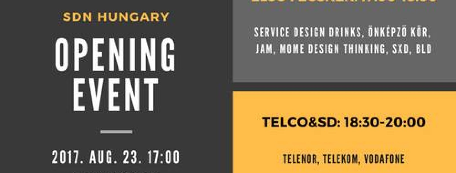 Opening event: first swallows + Telco&SD