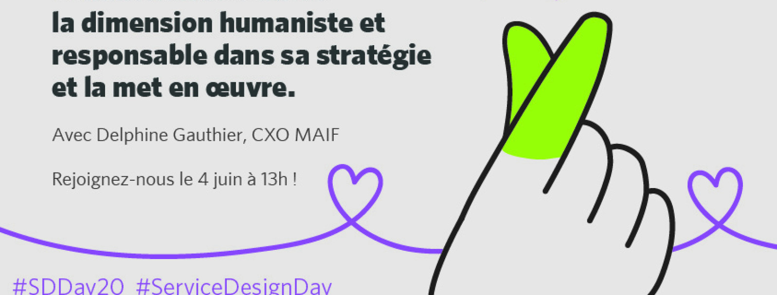 "[Service Design Day] ""Do good, give back"" avec Delphine Gauthier, CXO MAIF"