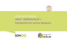 SD KÖLN: LEGO® SERIOUS PLAY®: Introduction for service designers