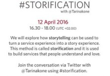 Storification Tweet Chat on April 12 at 16.30 - 18