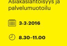 Asiakaslähtöisyys ja palvelumuotoilu: Design Forum Talk