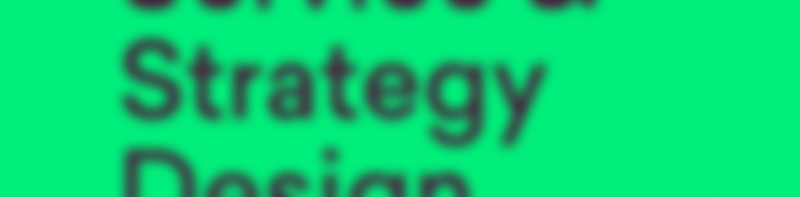 Internship 2021: Service Design/Design Strategy