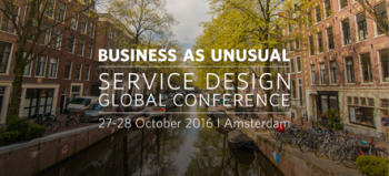 Service Design Global Conference 2016 Amsterdam