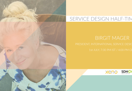 Service Design Half-time with Birgit Mager by Xeno Co-lab and SDN India