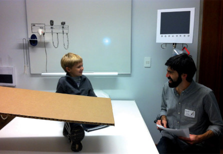 Designing for a Child's Experience of Clinical Rounds:  A Participatory Design Challenge