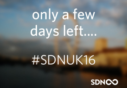 A few days  to go for SDNUK16