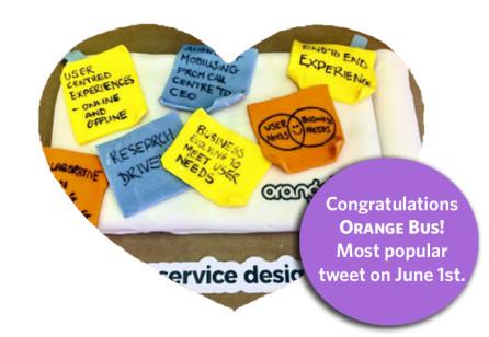 Congratulations to our SDGC17 Service Design Day ticket winner Orange Bus!