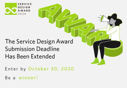 The Service Design Award Submission Deadline Has Been Extended