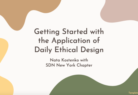 Getting Started with the Application of Daily Ethical Design