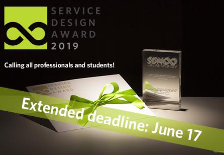Service Design Award 2019: Extended Deadline