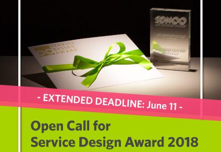 Service Design Award 2018: Extended Deadline