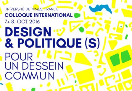 Colloque international « Design et Politique(s) : pour un dessein commun »
