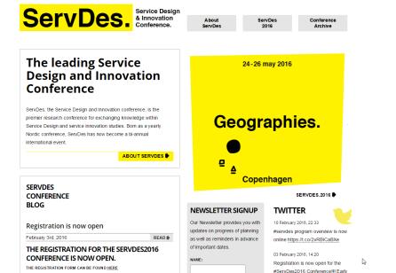 ServDes 2016 kommer til København i Maj