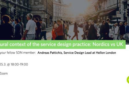 Cultural context of the service design practice: Nordics vs UK