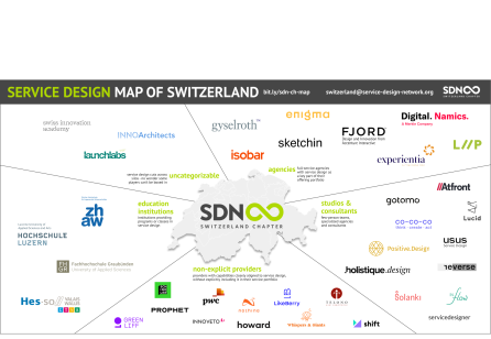 Service Design map of Switzerland