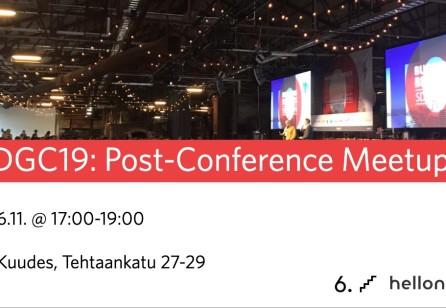 SDGC19: Post-Conference Meetup
