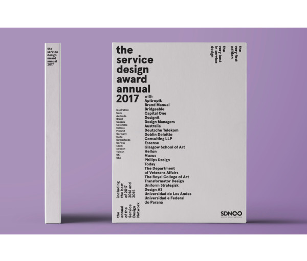 Feature in the next Service Design Award Annual