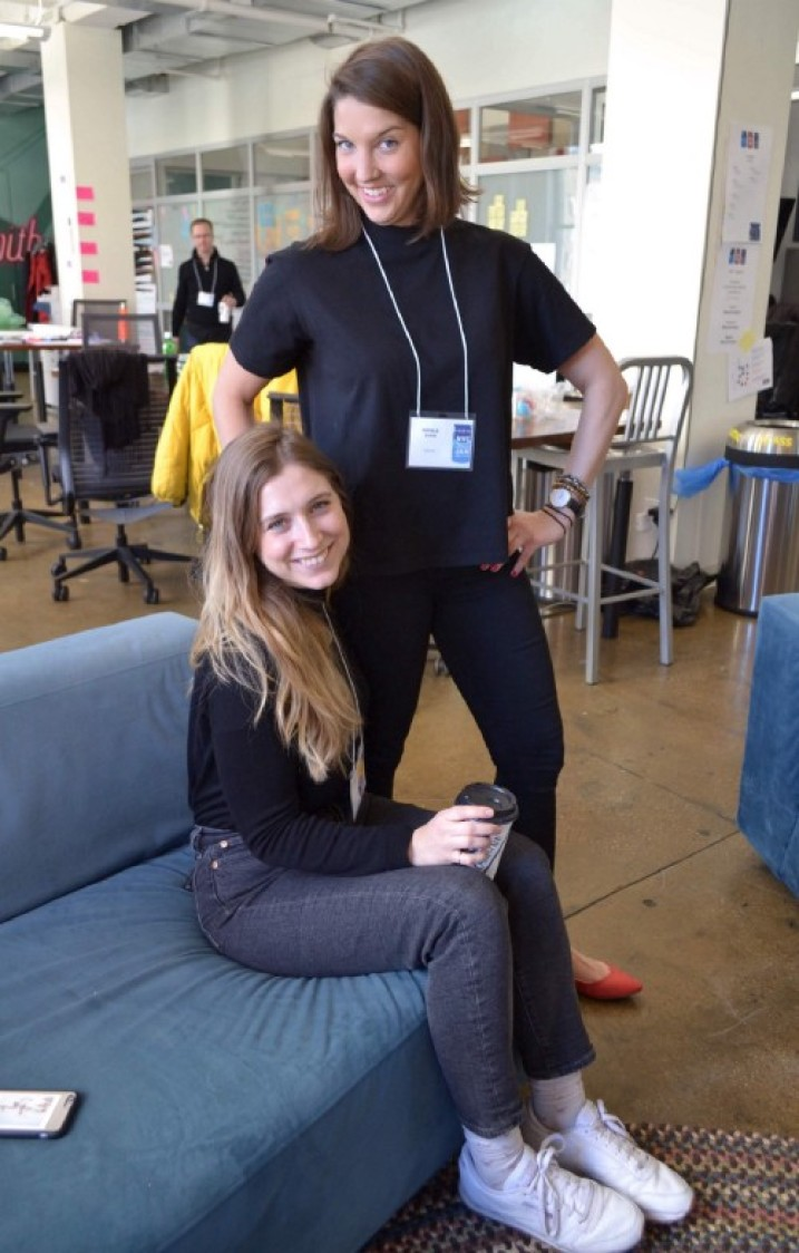 Natalie and me as mentors at the Global Service Jam in March 2018