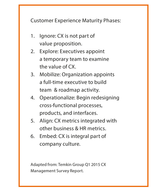 CUSTOMER EXPERIENCE MATURITY PHASES