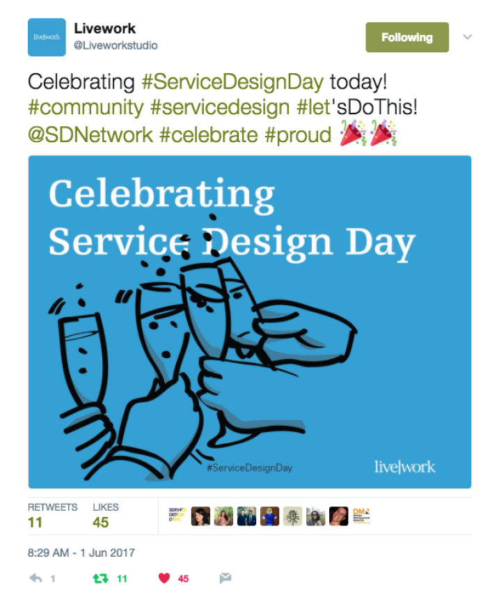 Being loud and proud about service design